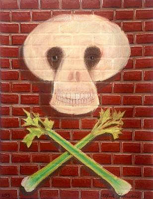 Vegan Skull And Cross Bones Poster