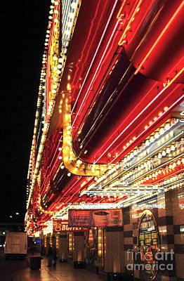 Vegas Neon Poster by John Rizzuto