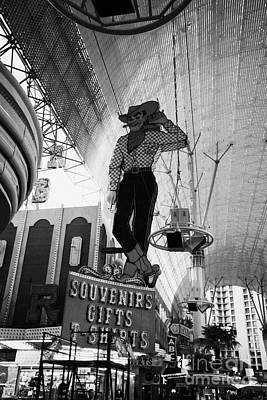 vegas vic cowboy sign at the freemont street experience during the day Las Vegas Nevada USA Poster