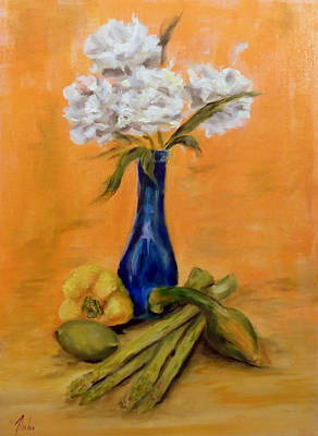 Vegetable Flower Still Life Poster