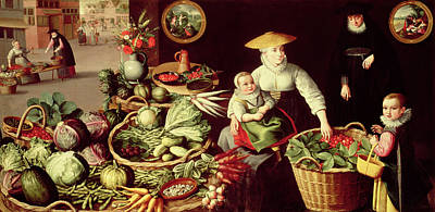 Vegetable Market Poster by Lucas van Valckenborch