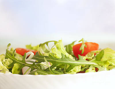 Vegetable Salad Poster by Mythja  Photography
