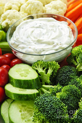 Vegetables And Dip Poster