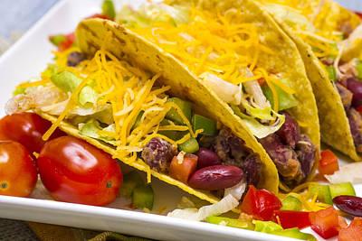 Vegetarian Bean Tacos Poster