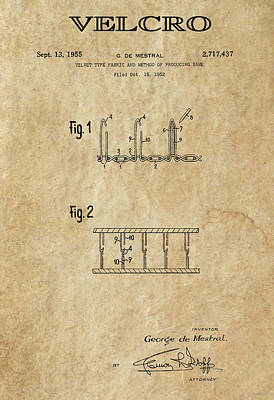 Velcro Patent Art  1955 Poster