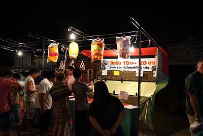 Vendors - Night Street Market - Chiang Mai Thailand - 011317 Poster