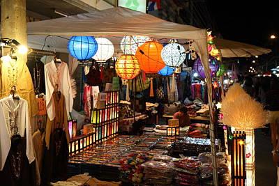 Vendors - Night Street Market - Chiang Mai Thailand - 011339 Poster