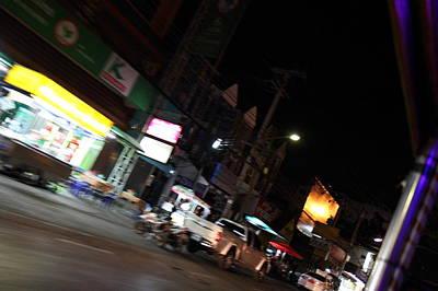 Vendors - Night Street Market - Chiang Mai Thailand - 011346 Poster