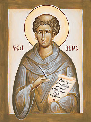 Venerable Bede Poster by Julia Bridget Hayes