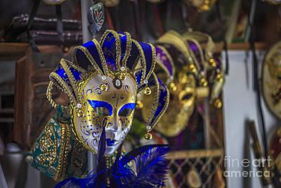 Venetian Carnival Masks Cadiz Spain Poster