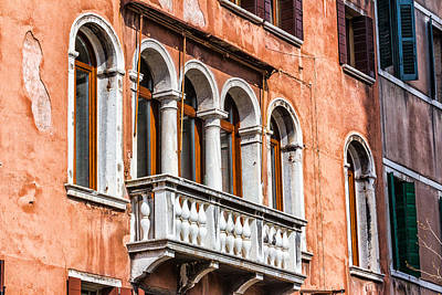 Venetian Houses In Italy Poster