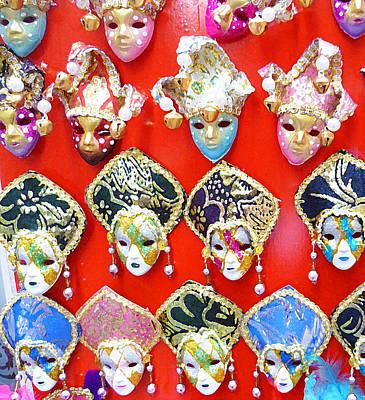 Venetian Masks  Poster by Irina Sztukowski