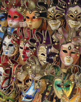 Venetian Masks Poster by Ramona Johnston