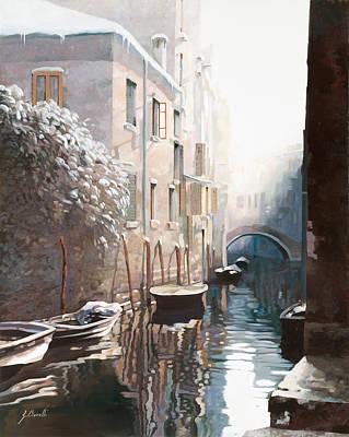 Venezia Sotto La Neve Poster by Guido Borelli