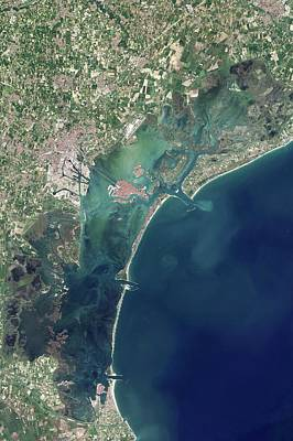 Venice And Mose Construction Poster by Nasa Earth Observatory