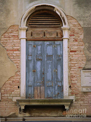 Venice Blue Arched Window Poster