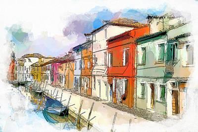 Venice Burano Beauty 3 Poster by Yury Malkov