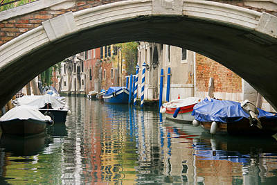 Poster featuring the photograph Venice Canal Boat by Silvia Bruno