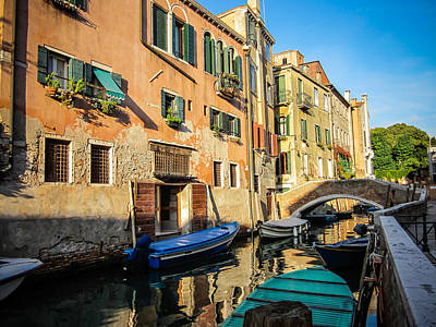 Venice Canal In The Morning Poster