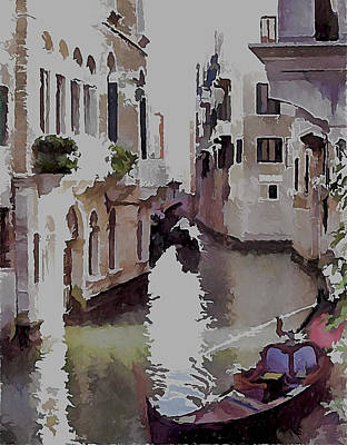 Venice Canal Today 3 Poster by Yury Malkov