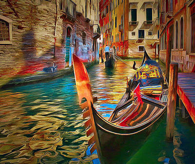 Venice Canals Beauty 4 Poster by Yury Malkov