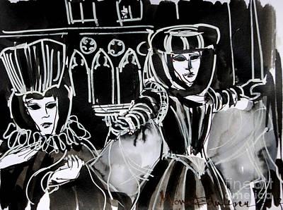 Venice Carnival 5 Poster by Mona Edulesco