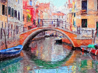 Venice Daily Life 3 Poster by Yury Malkov