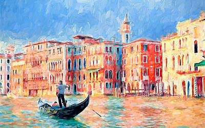 Venice Daily Life 6 Poster by Yury Malkov