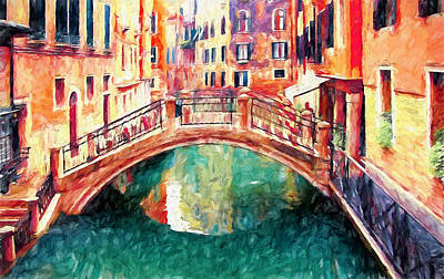 Venice Daily Life 7 Poster by Yury Malkov