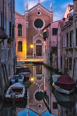 Venice Evening Poster by Joan Herwig