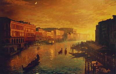 Venice From The Rialto Bridge Poster by Blue Sky