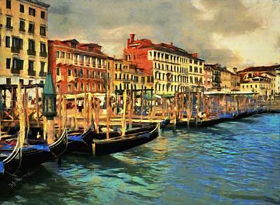 Poster featuring the painting Venice From The Water by Jeff Kolker