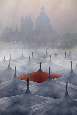 Venice In Rain Poster