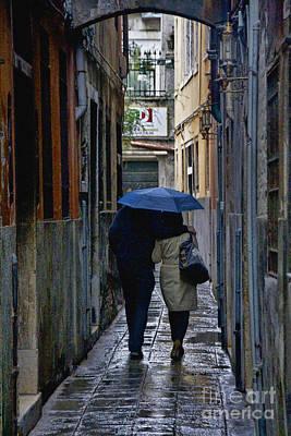 Venice In The Rain Poster