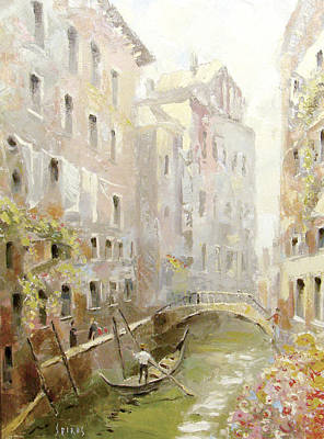 Poster featuring the painting Venice In The Sunlight by Dmitry Spiros