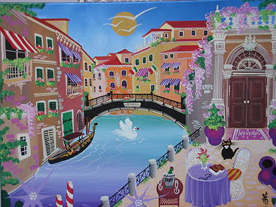 Venice, Italy, 2010-12 Acrylic On Canvas Poster by Herbert Hofer