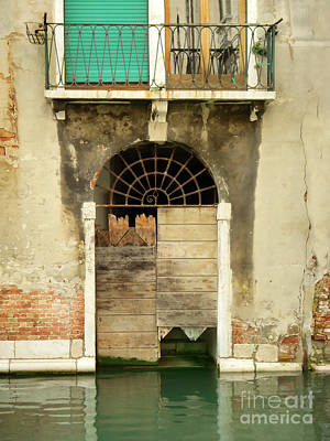 Venice Italy Boat Room Shutters Poster
