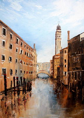 Poster featuring the painting Venice Italy by Jean Walker