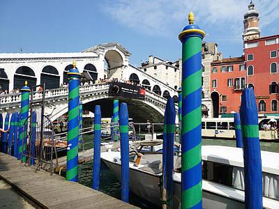 Venice Italy Ponte Di Rialto  Poster by Irina Sztukowski