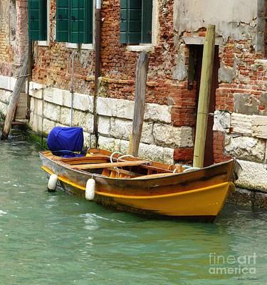 Venice Mooring Poster by Bishopston Fine Art
