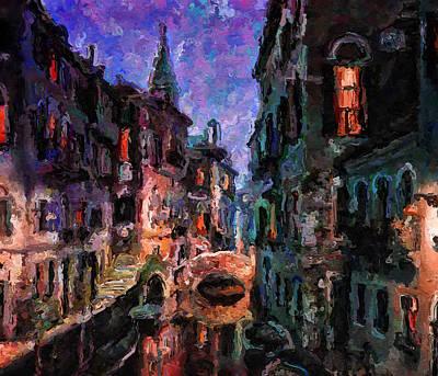 Venice Night Lights 2 Poster