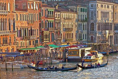Venice Palazzi At Sundown Poster