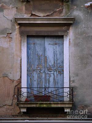 Venice Square Blue Shutters Poster