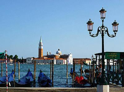 Venice View On Basilica Di San Giorgio Maggiore Poster by Irina Sztukowski