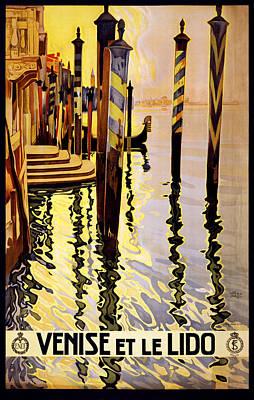 Venise Et Le Lido Poster by Georgia Fowler