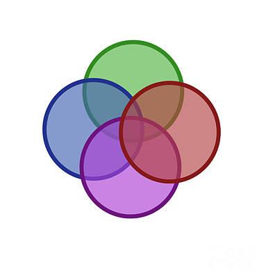 venn diagram of intersecting circles poster