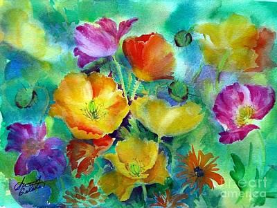 Ventana Poppies Poster