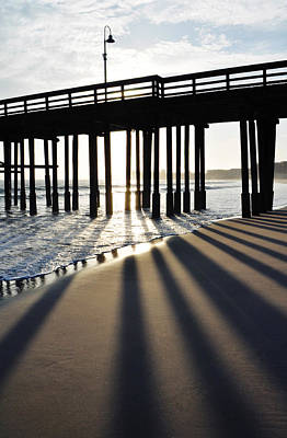 Poster featuring the photograph Ventura Pier Shadows by Kyle Hanson