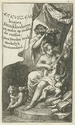 Venus Crowned By Bacchus, Arnold Houbraken Poster by Arnold Houbraken And Lucas Cloppenburg (publisher)