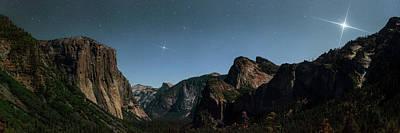 Venus Over Yosemite National Park Poster